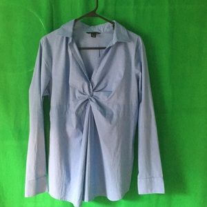 Lands End Maternity Blouse Top Size M